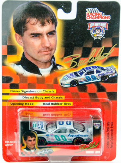 1998 Buckshot Jones NASCAR Diecast 00 Aqua Fresh CWC 1:64 Racing Champions Signature Series 1