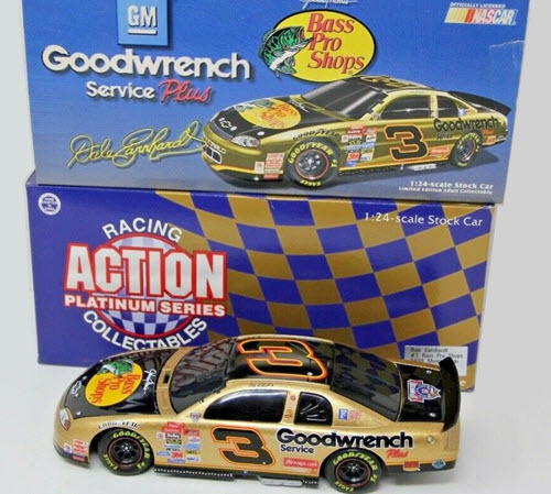 1998 Dale Earnhardt Sr NASCAR Diecast 3 Bass Pro Shops BWC 1:24 Action ARC Black Window Car Snap On Snap On 1