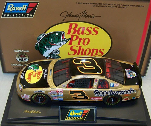 1998 Dale Earnhardt Sr NASCAR Diecast 3 Bass Pro Shops CWC 1:24 Revell Collection 1