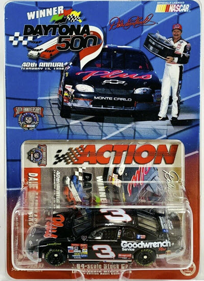 1998 Dale Earnhardt Sr NASCAR Diecast 3 Plus GMGW GM Goodwrench Daytona 500 Winner CWC 1:64 Action ARC 1