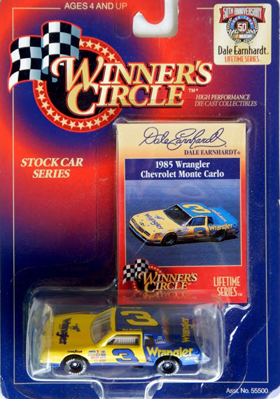 1998 Dale Earnhardt Sr NASCAR Diecast 3 Wrangler 1985 CWC 1:64 WC Winners Circle LTS 1