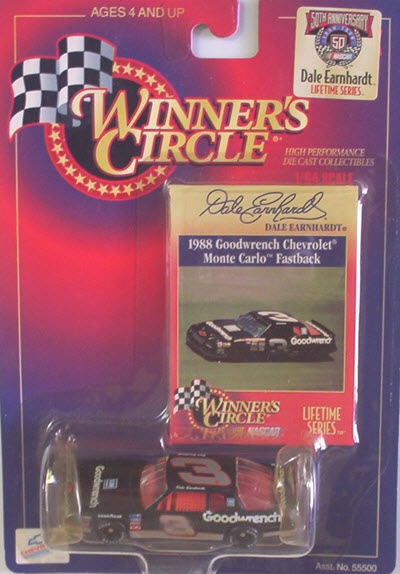1998 Dale Earnhardt Sr NASCAR Diecast LTS 11 of 11 Monte Carlo 1988 Areocoupe Fastback CWC 1:64 Winners Circle 1