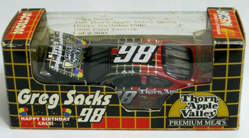 1998 Greg Sacks NASCAR Diecast 98 Thorn Apple Valley Happy Birthday Cale CWC 1:64 Action RCCA 1