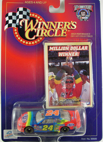 1998 Jeff Gordon NASCAR Diecast 24 DuPont Brickyard No Bull CWC 1:64 Winners Circle Million Dollar Winner 1