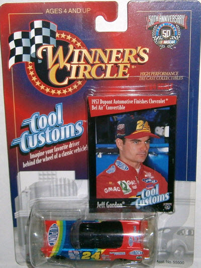 1998 Jeff Gordon NASCAR Diecast 24 DuPont CWC 1:64 Winners Circle Cool Customs 1957 Chevy Bel Air Convertible 1