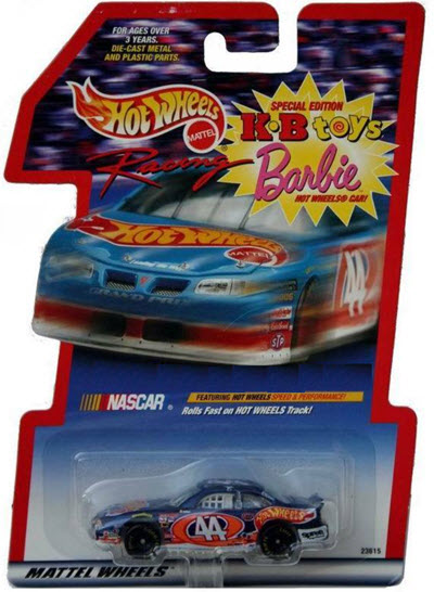 1998 Kyle Petty NASCAR Diecast 44 Hot Wheels CWC 1:64 Hot Wheels KB Toys Barbie 1