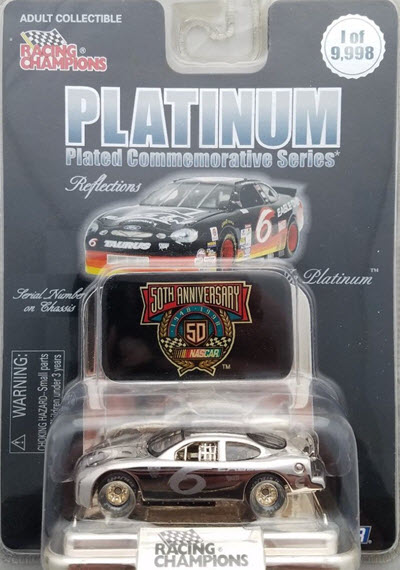 1998 Mark Martin NASCAR Diecast 6 Eagle One CWC 1:64 Racing Champions Reflections Platinum 1