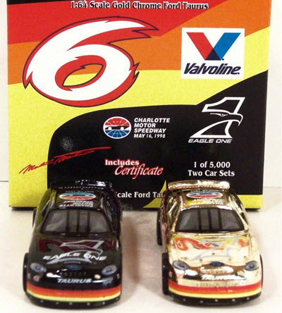1998 Mark Martin NASCAR Diecast 6 Eagle One Charlotte CWC 1:64 Racing Champions Set Gold Chrome 1