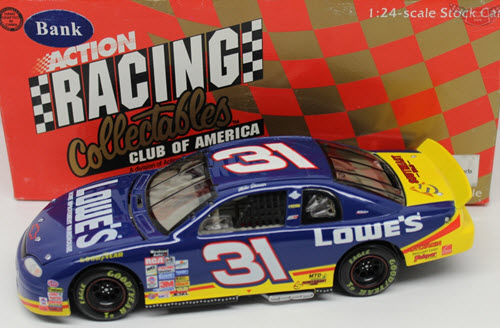 1998 Mike Skinner NASCAR Diecast 31 Lowes CWB Bank 1:24 Action RCCA 1