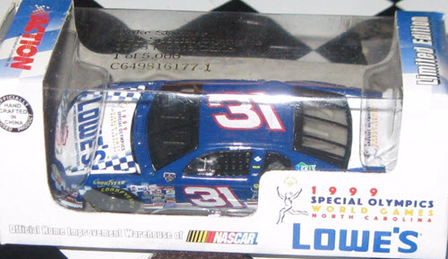 1998 Mike Skinner NASCAR Diecast 31 Special Olympics CWC 1:64 Action RCCA Club Car 1
