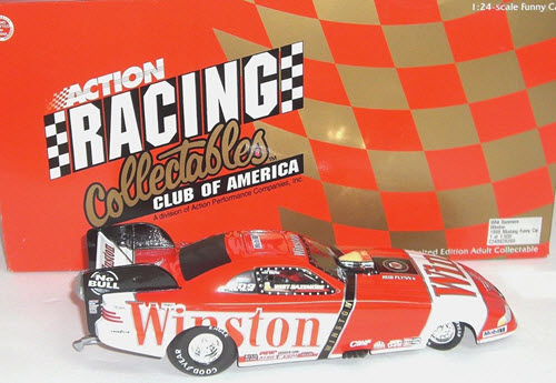 1998 White Bazemore NHRA Diecast Winston Mustang Funny Car 1:24 Action RCCA 2