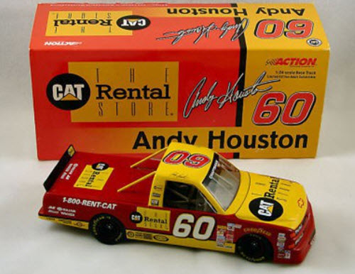 1999 Andy Houston NASCAR Diecast 60 CAT Rental Truck 1:24 Lionel Action ARC 2