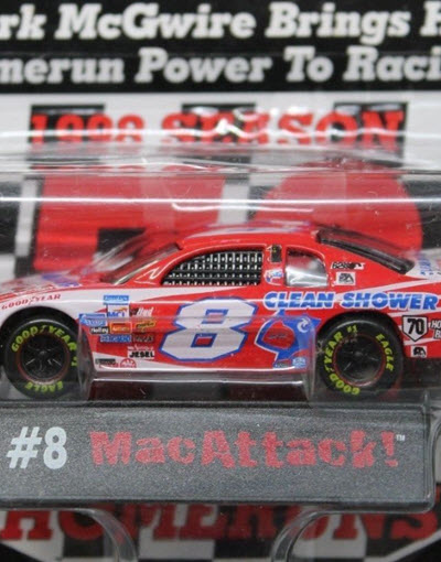 1999 Bobby Hillin NASCAR Diecast 8 Clean Shower Mark McGwire Mac Attack CWC 1:64 Mastio 3