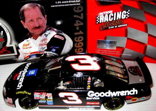 1999 Dale Earnhardt Sr NASCAR Diecast 3 GMGW GM Goodwrench 25th Anniversary CWB Bank 1:24 Action RCCA Club 1