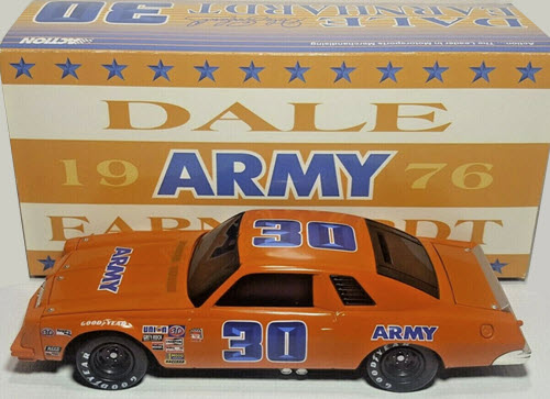 1999 Dale Earnhardt Sr NASCAR Diecast 30 Army 1976 Chevy Malibu BWB Black Window Bank 1:24 Action ARC 1