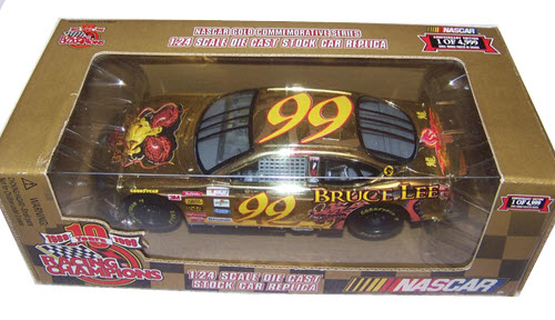 1999 Jeff Burton NASCAR Diecast 99 Bruce Lee CWC 1:24 Racing Champions Gold Commemorative 1