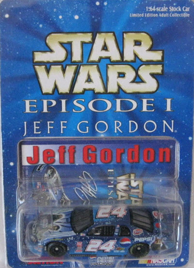 1999 Jeff Gordon NASCAR Diecast 24 Star Wars Episode I CWC 1:64 Action ARC 1