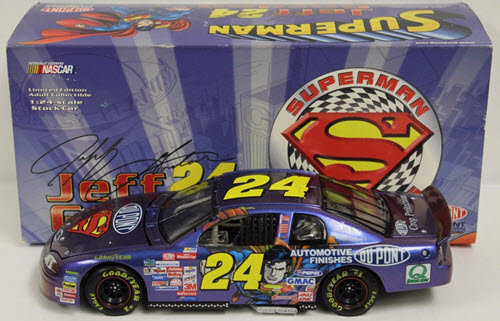 1999 Jeff Gordon NASCAR Diecast 24 Superman CWC 1:24 Action ARC 1
