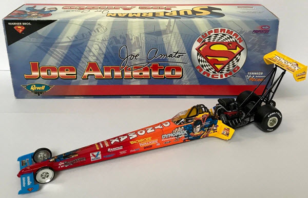 1999 Joe Amato NHRA Diecast Superman Tenneco Top Fuel Dragster 1:24 Revell Club 1