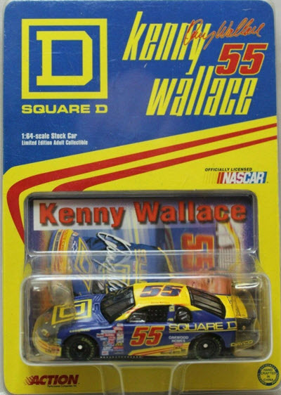 1999 Kenny Wallace NASCAR Diecast 55 Square D CWC 1:64 Action ARC 1
