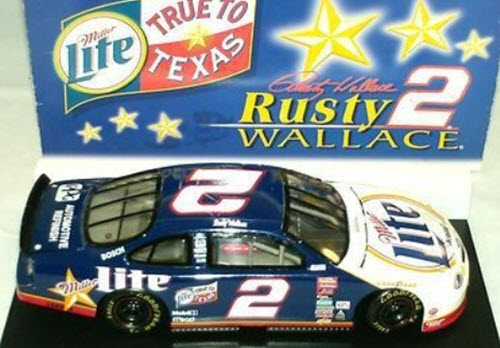 1999 Rusty Wallace NASCAR Diecast 2 Miller Lite True To Texas CWC 1:24 Action ARC 2