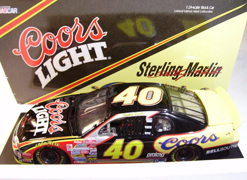 1999 Sterling Marlin NASCAR Diecast 40 Coors Original Beer CWC 1:24 Action ARC 1