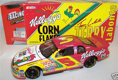 1999 Terry Labonte NASCAR Diecast 5 Kelloggs Corn Flakes CWB Bank 1:24 Action RCCA 1