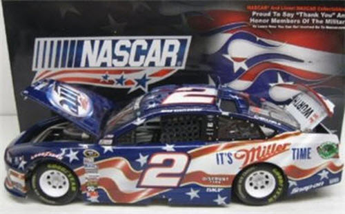2 Brad Keselowski Diecast 2013 Miller Lite NASCAR American Salute 1:24 CWC Lionel Action ARC 1