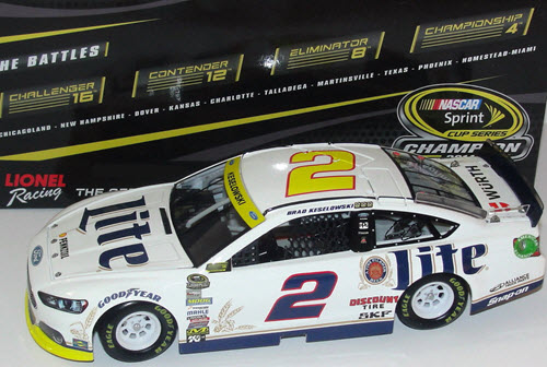 2 Brad Keselowski Diecast 2014 Miller Lite White Chase for the Sprint Cup 1:24 CWC Lionel Action ARC 1