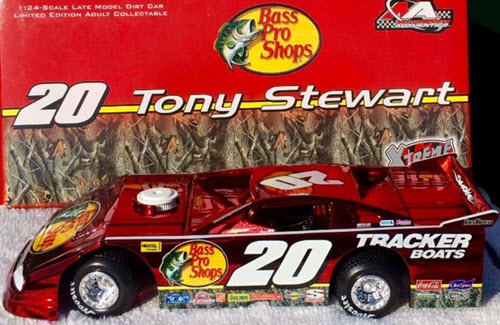 20 Tony Stewart Diecast 2006 Bass Pro Shops Late Model Dirt Car 1:24 Motorsports Authentics Action ARC Color Chrome 1