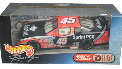 2000 Adam Petty NASCAR Diecast 45 Sprint CWC 1:24 Hot Wheels Deluxe Race Day 1