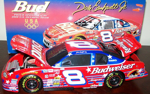 2000 Dale Earnhardt Jr NASCAR Diecast 8 Bud Budweiser US Olympic BWB 1:24 Action ARC Black Window Bank 1