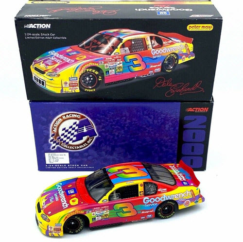 2000 Dale Earnhardt Sr NASCAR Diecast 3 GMGW GM Goodwrench Peter Max CWC 1:24 Action ARC 1
