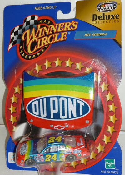 2000 Jeff Gordon NASCAR Diecast 24 DuPont CWC 1:64 Winners Circle Deluxe Collection Tyvek 1