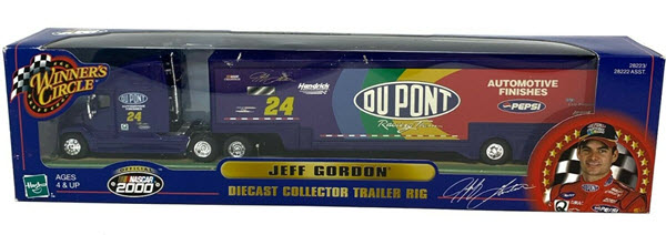 2000 Jeff Gordon NASCAR Diecast 24 DuPont Hauler Trailer Rig 1:64 Winners Circle With NASCAR 2000 Logo 1