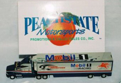 2000 Jeremy Mayfield NASCAR Diecast 12 Mobil 1 Hauler Transporter 1:64 Peachstate 1