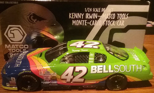 2000 Kenny Irwin NASCAR Diecast 42 Bell South Green CWC 1:24 Racing Champions Matco Tools 1