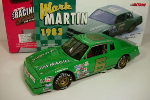 2000 Mark Martin NASCAR Diecast 6 Jim Magill Green CWB Bank 1:24 Action RCCA 1