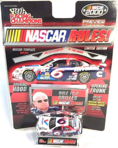2000 Mark Martin NASCAR Diecast 6 Valvoline CWC 1:64 Racing Champions Rules Preview 1