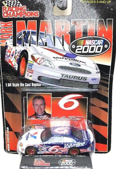 2000 Mark Martin NASCAR Diecast 6 Valvoline Stars and Stripes CWC 1:64 Racing Champions 1
