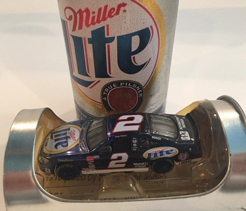 2000 Rusty Wallace NASCAR Diecast 2 Miller Lite Penske 10th Anniversary CWC 1:64 Action RCCA Beer Can 1
