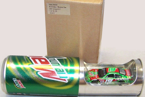 2001 Casey Atwood NASCAR Diecast 19 Mountain Dew CWC 1:64 Action ARC Soda Can 1