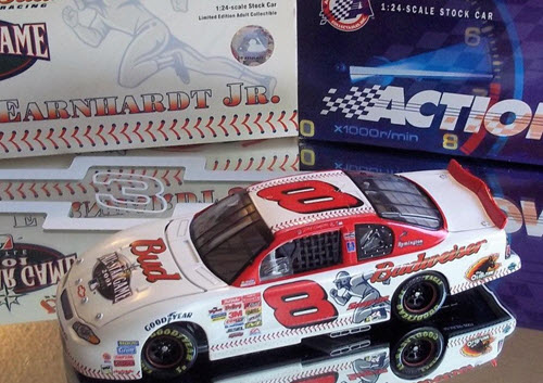 2001 Dale Earnhardt Jr NASCAR Diecast 8 MLB Baseball Seattle All Star Game CWC 1:24 Action ARC QVC Release 1