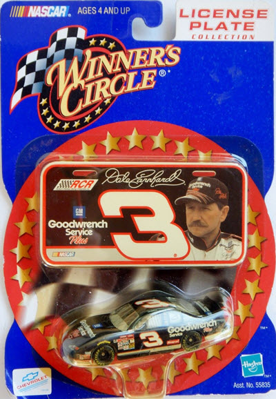 2001 Dale Earnhardt Sr NASCAR Diecast 3 GMGW GM Goodwrench CWC 1:64 Winners Circle License Plate 1a