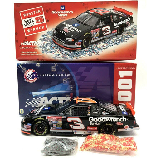 2001 Dale Earnhardt Sr NASCAR Diecast 3 GMGW GM Goodwrench Dega Talladega 76th Win Raced Version CWC 1:24 Action ARC 1