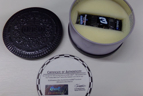 2001 Dale Earnhardt Sr NASCAR Diecast 3 Oreo CWC 1:64 Revell Collection Cookie Tin 1