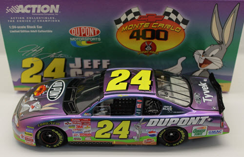 2001 Jeff Gordon NASCAR Diecast 24 Looney Tunes Bugs Bunny CWC 1:24 Action ARC 1