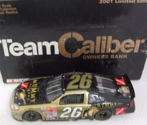 2001 Jimmy Spencer NASCAR Diecast 26 Mummy Returns Gold CWB Bank 1:24 Team Caliber Owners 1