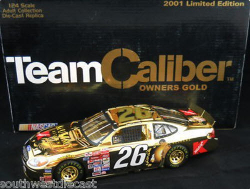 2001 Jimmy Spencer NASCAR Diecast 26 Mummy Returns Gold CWC 1:24 Team Caliber Owners Gold 1