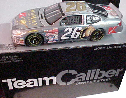 2001 Jimmy Spencer NASCAR Diecast 26 Mummy Returns Gold CWC 1:24 Team Caliber Owners Steel 1